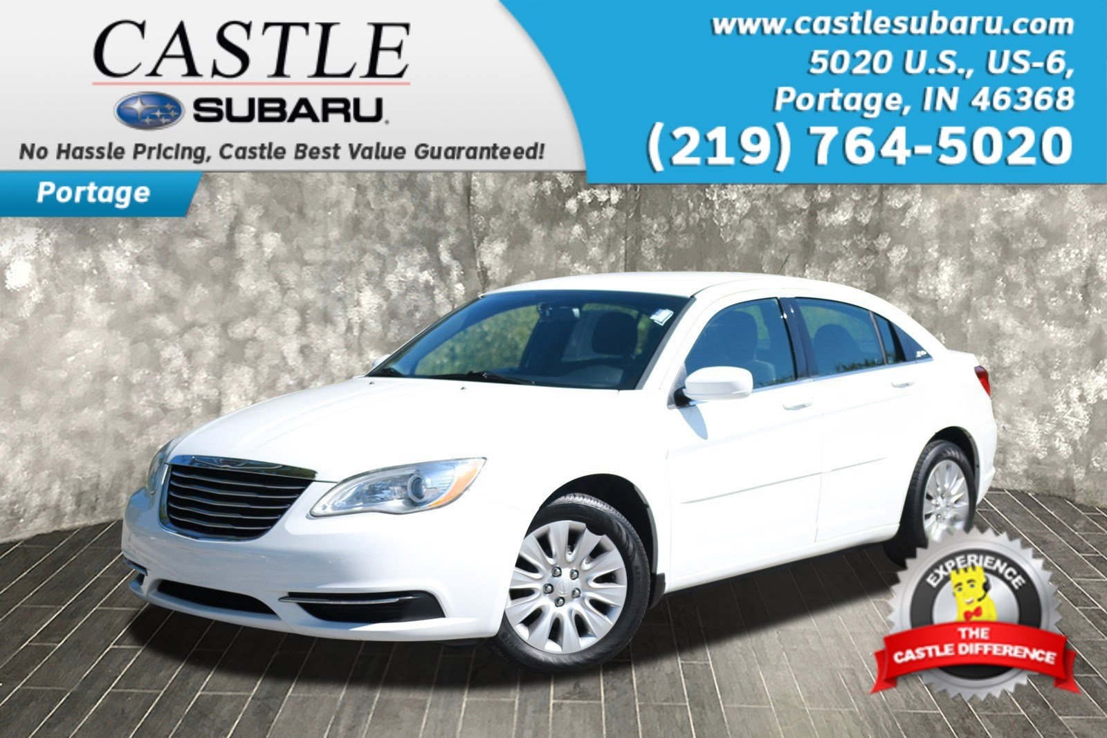 Pre Owned 2013 Chrysler 200 Lx 4dr Car In Portage P5722